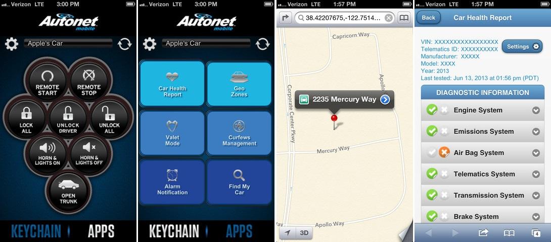 Dodatkowe Autonet Mobile CarKey - aplikacja do obsługi pojazdu i Car-Fi YZ76