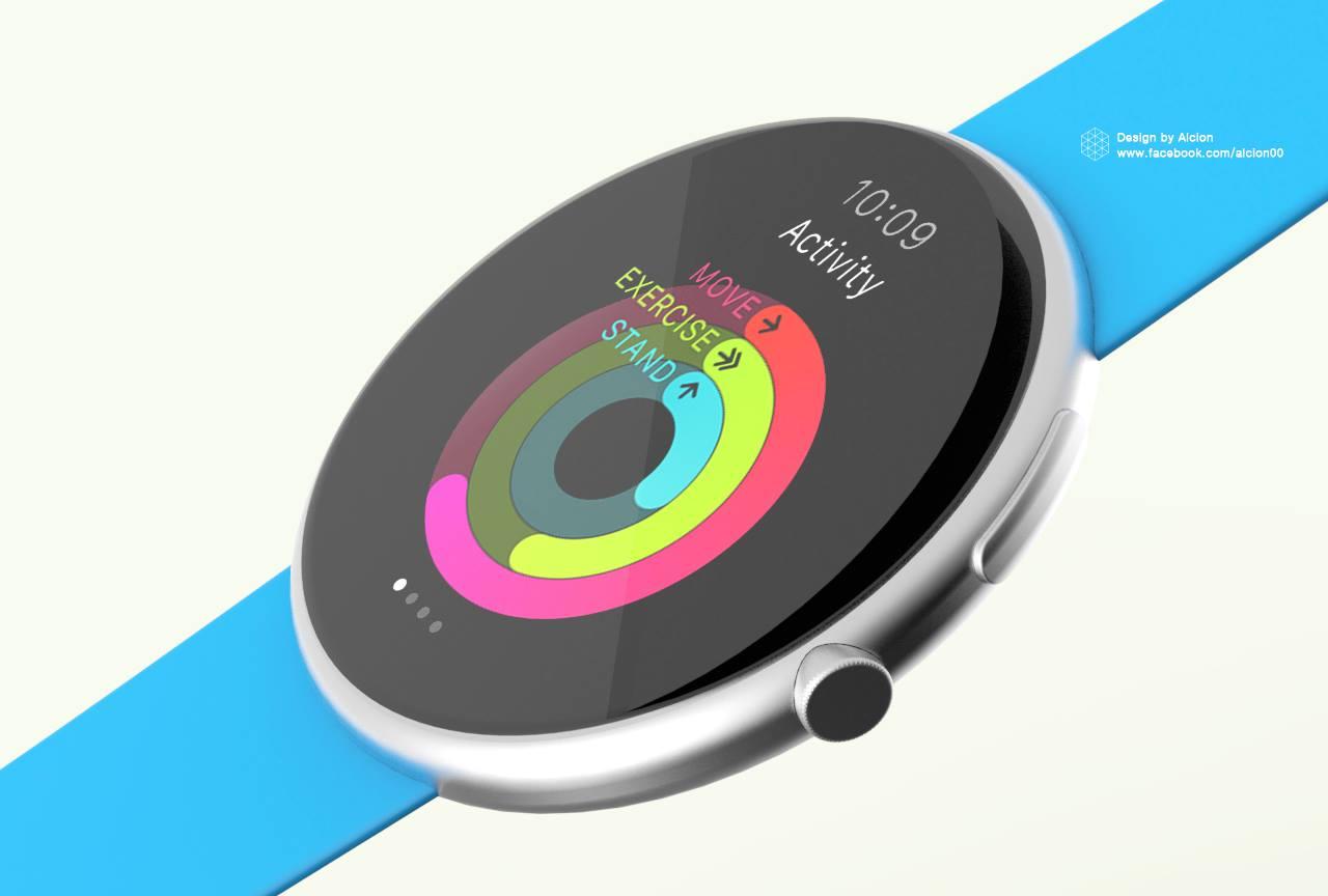 Jedna z koncepcji okrągłego Apple Watcha. Czy kiedyś zobaczymy taki format?