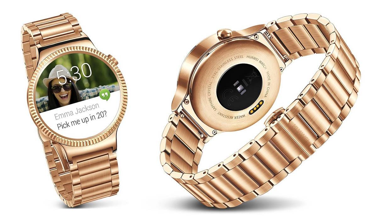 Dla porównania: zwykły Huawei Watch startuje od 350$. Gold ma kosztować 799$. fot. engadget.com
