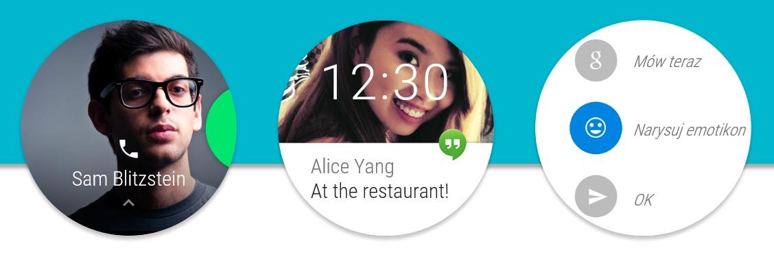 Android Wear (Moto 360) to system przesuwanych kart. Nie zawsze jest to wygodne.