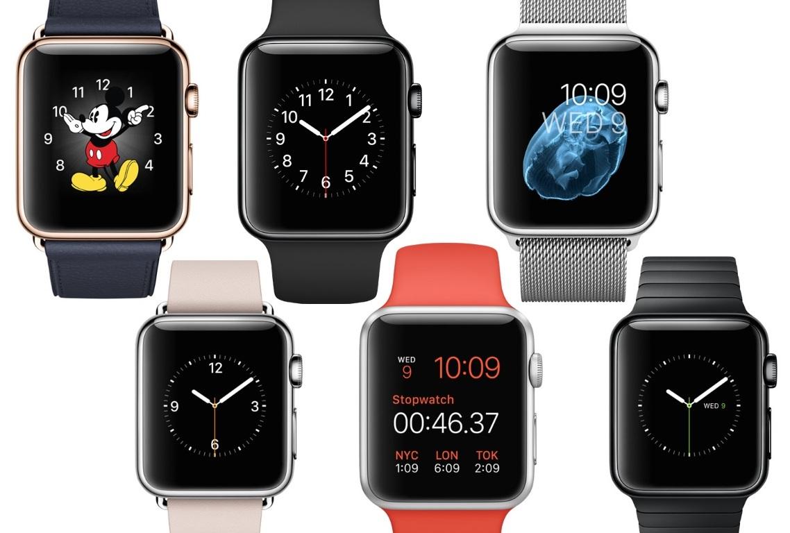 Wybrane tarcze w Apple Watch.