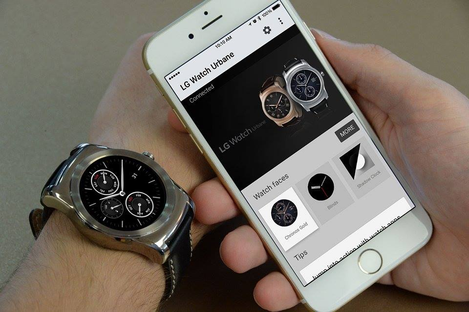 LG Watch Urbane i iPhone 6.