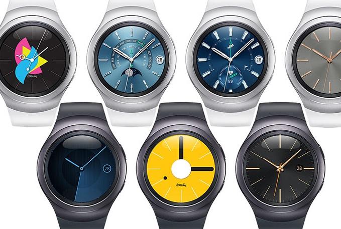 Wybrane tarcze w Samsungu Gear S2.