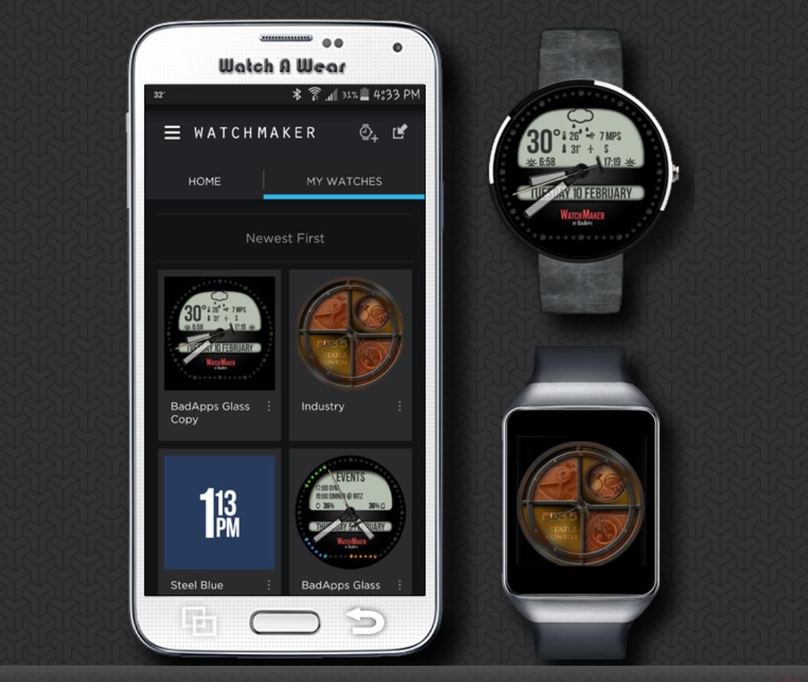 """WatchMaker - jeden z programów ułatwiający wgrywanie tarczy """"customowych""""."""