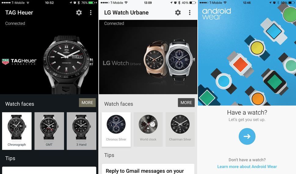 Aplikacja Wear do kontroli Android Wear z iOS.