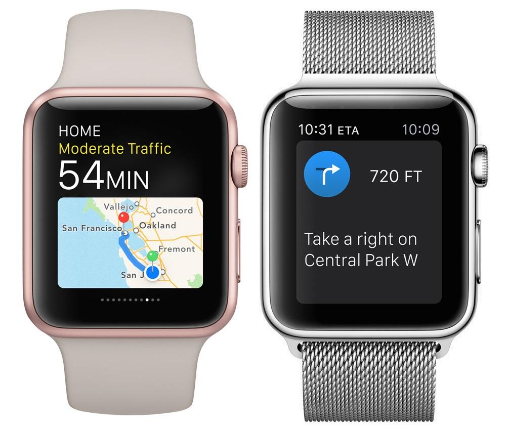 mapki na Apple Watch