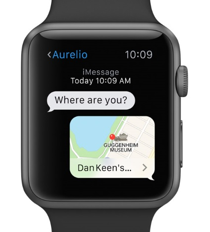 Lokalizację można komuś przesłać w wiadomości. Stąd natychmiast można przejść do mapek i nawigacji.