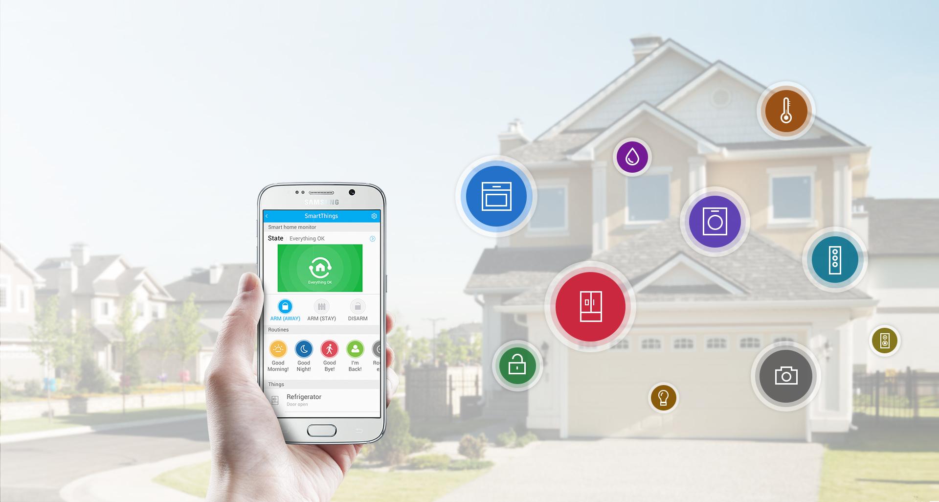 Samsung jest jedną z wielkich firm, które inwestują w inteligentne domy.