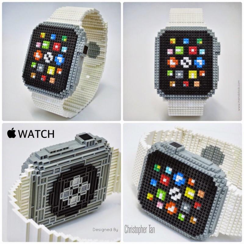 Apple Watch z 800 klocków Nanoblock autorstwa Christophera Tana. fot. inanoblock.com