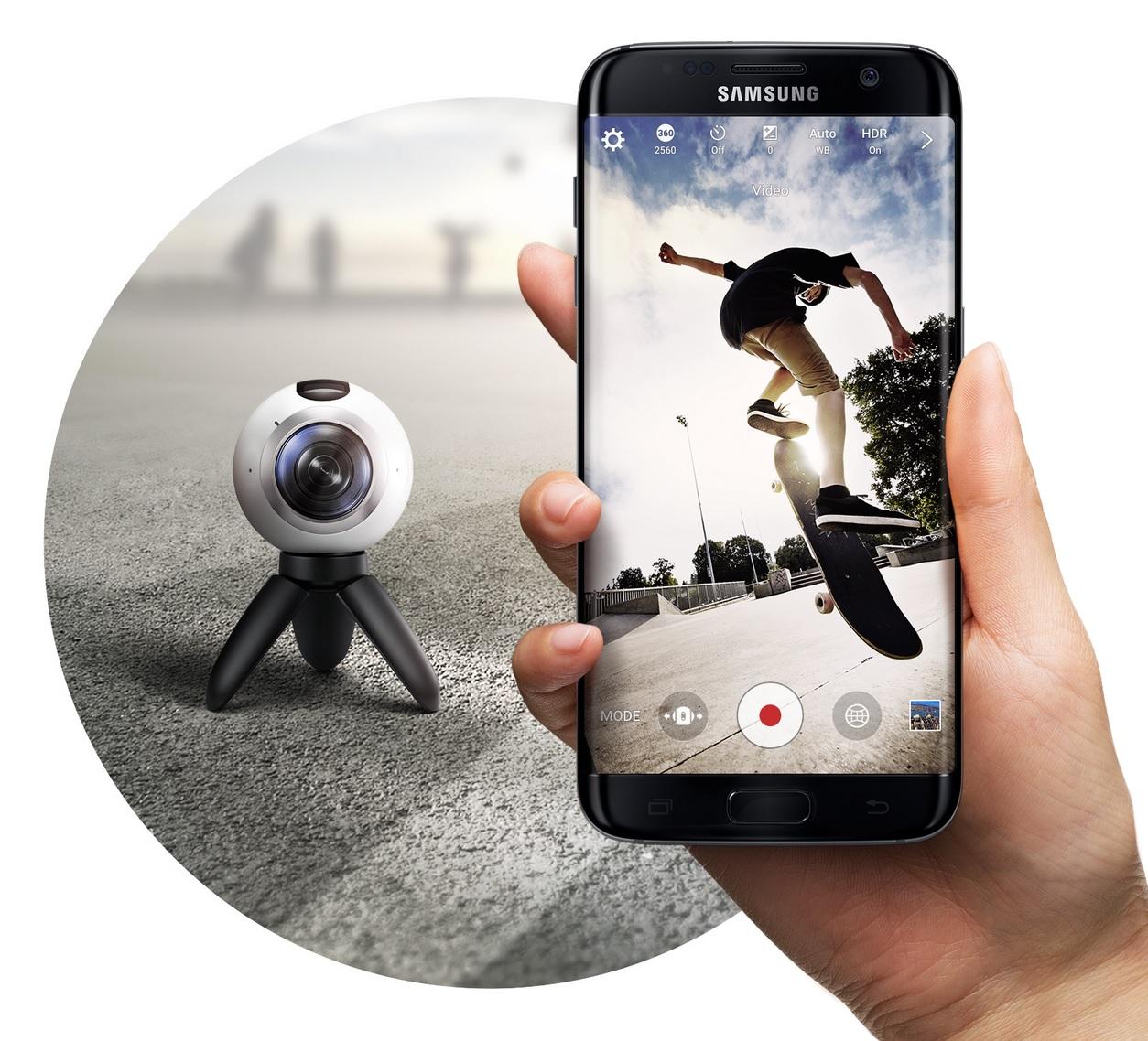 kamerki sferyczne - Gear 360