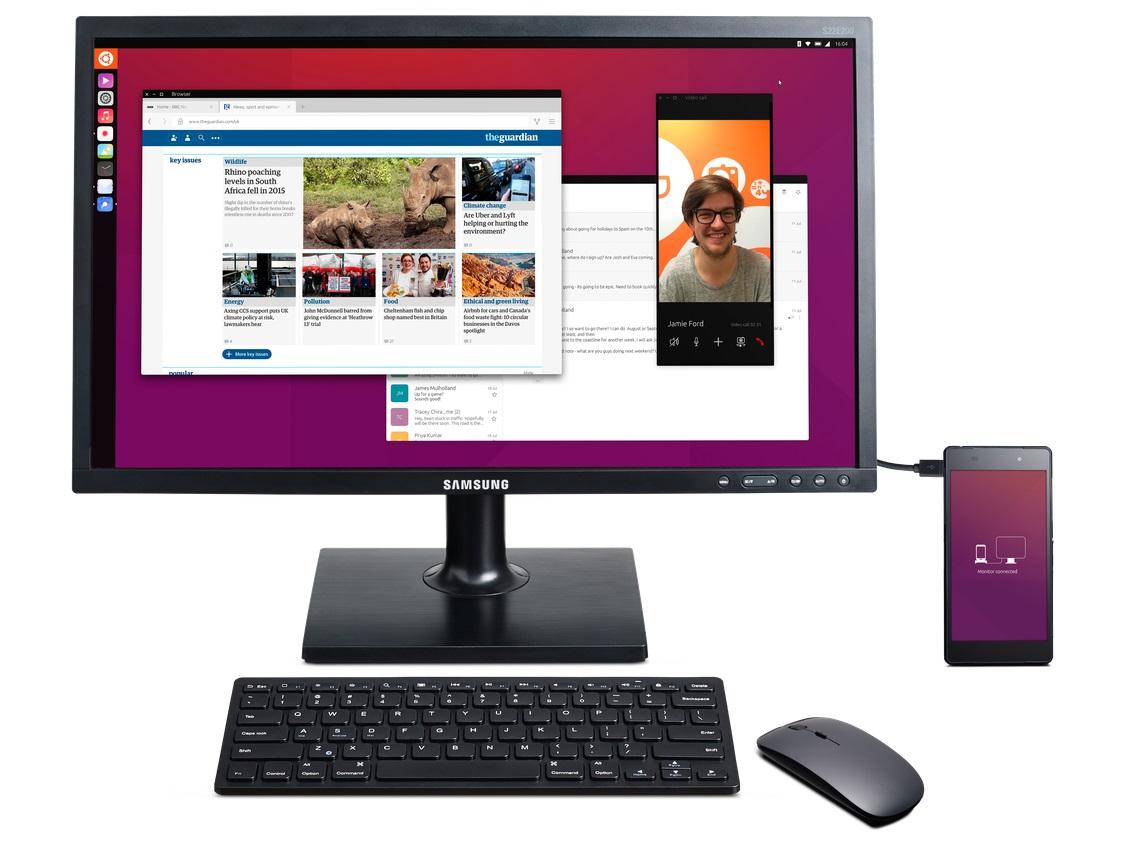Ubuntu z identycznym rozwiązaniem do Continuum. fot. Canonical