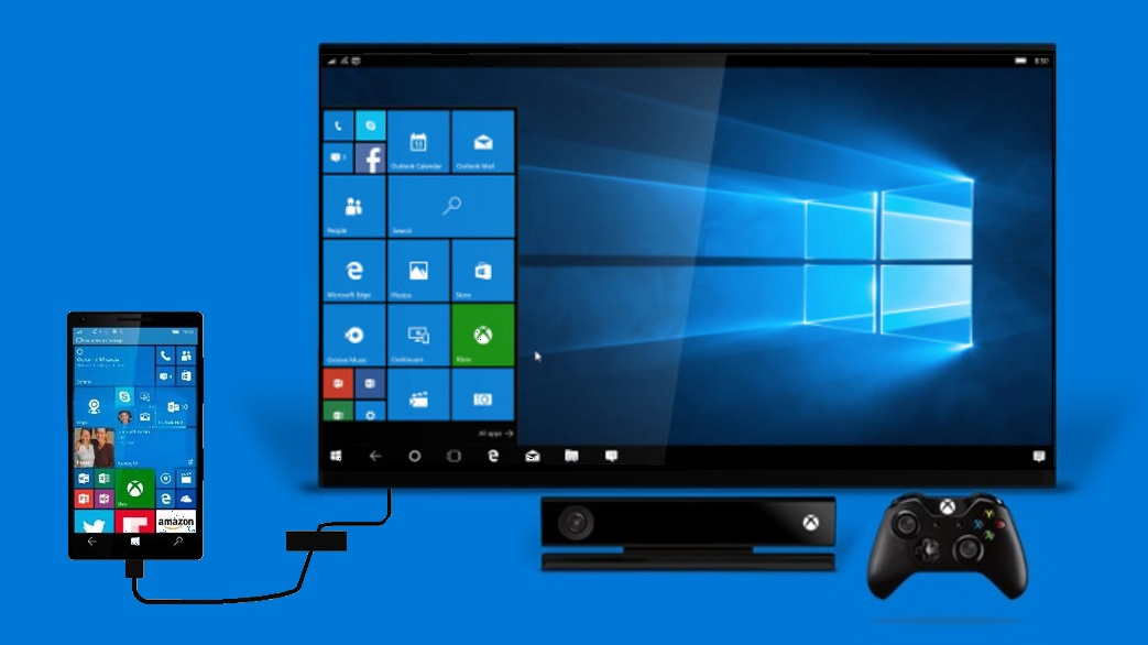 Konsola Xbox One z Windows Continuum przez aplikację Wireless Display.