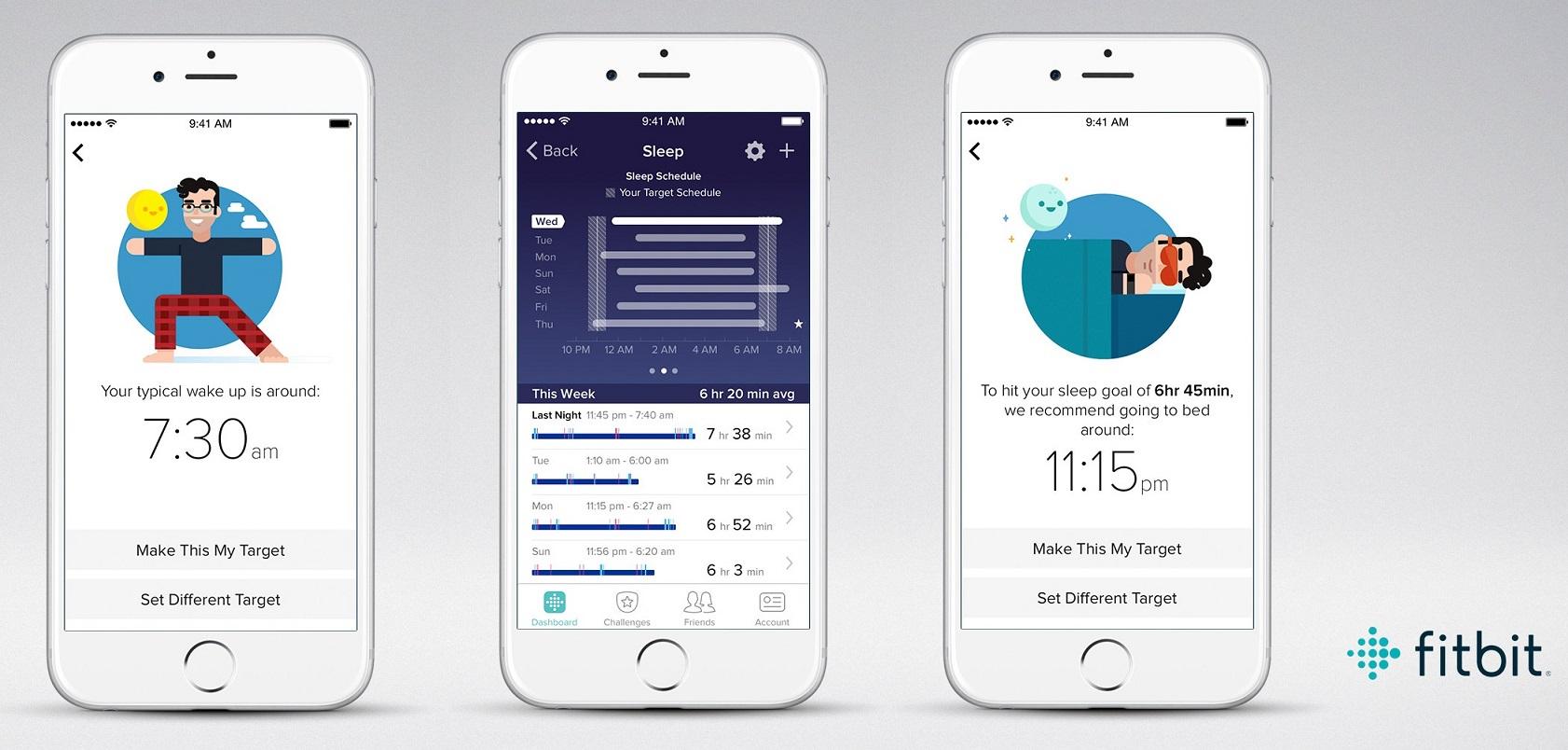 Fitbit Sleep Schedule app