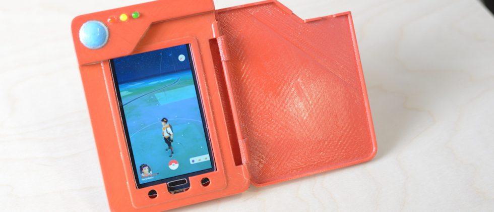 Oto Pokedex dzisiejszych czasów. Fanowski projekt DIY (do it yourself) z bankiem energii do smartfona. Pokemony z GPS ostro drenują akumulatorek.