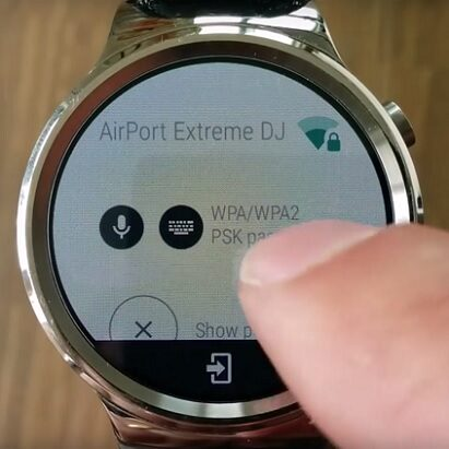 Wi-Fi Manager na Android Wear