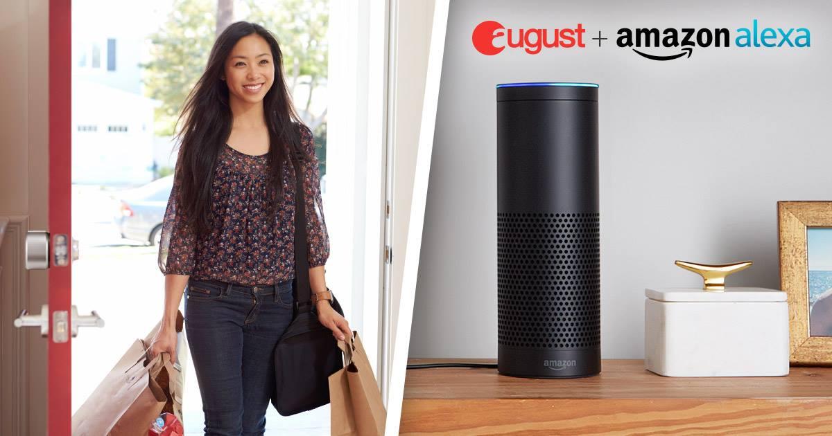 August Smart Lock Amazon Echo Alexa