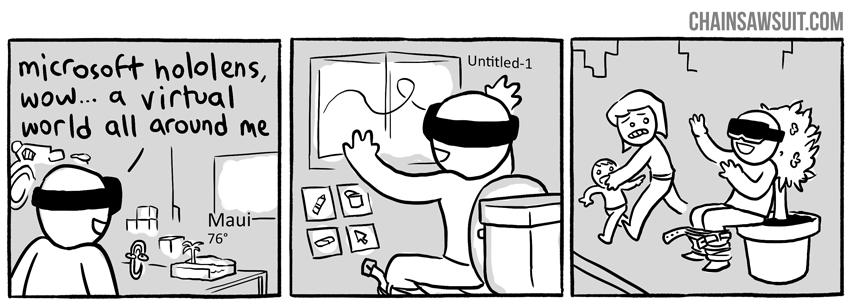 Oczywiście zarówno AR jak i VR są też tematem drwin ;)