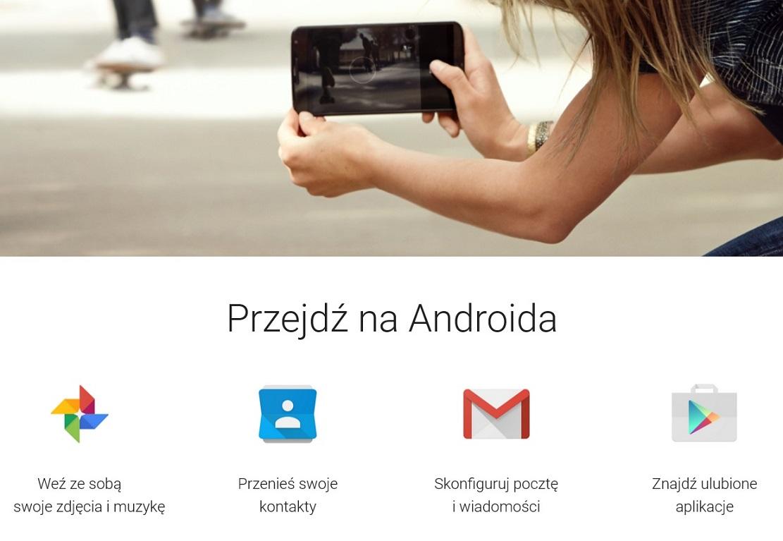 Przejdź na Androida