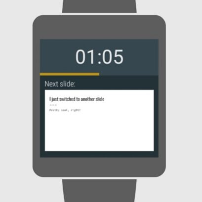 Prezentacje Google Android Wear