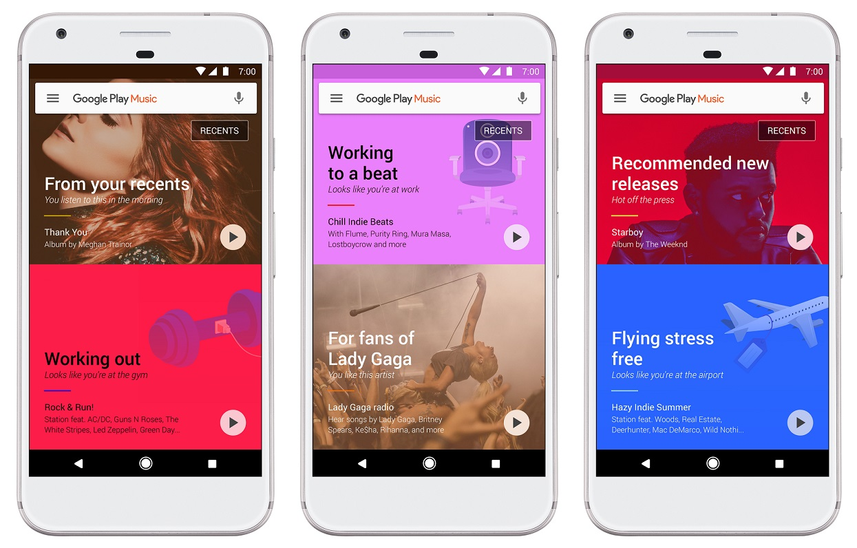 Google Play Music machine learning