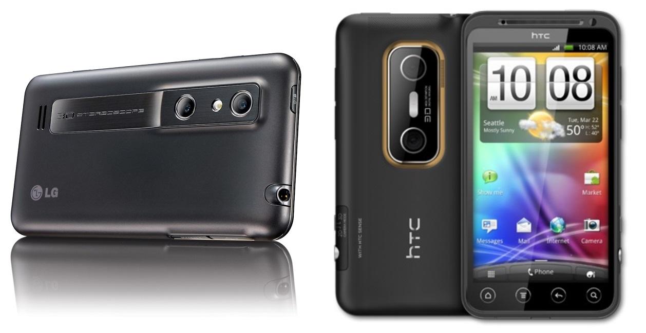 LG Optimus 3D HTC Evo 3D dwa aparaty
