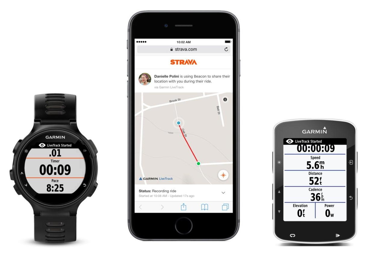 Strava Beacon Garmin