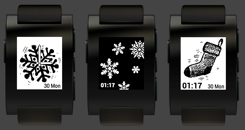 Holiday Pebble Watches