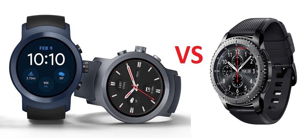 LG Watch Sport vs Gear S3