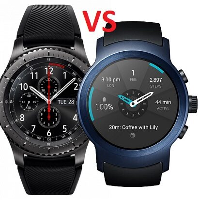LG Watch Sport vs Gear S3