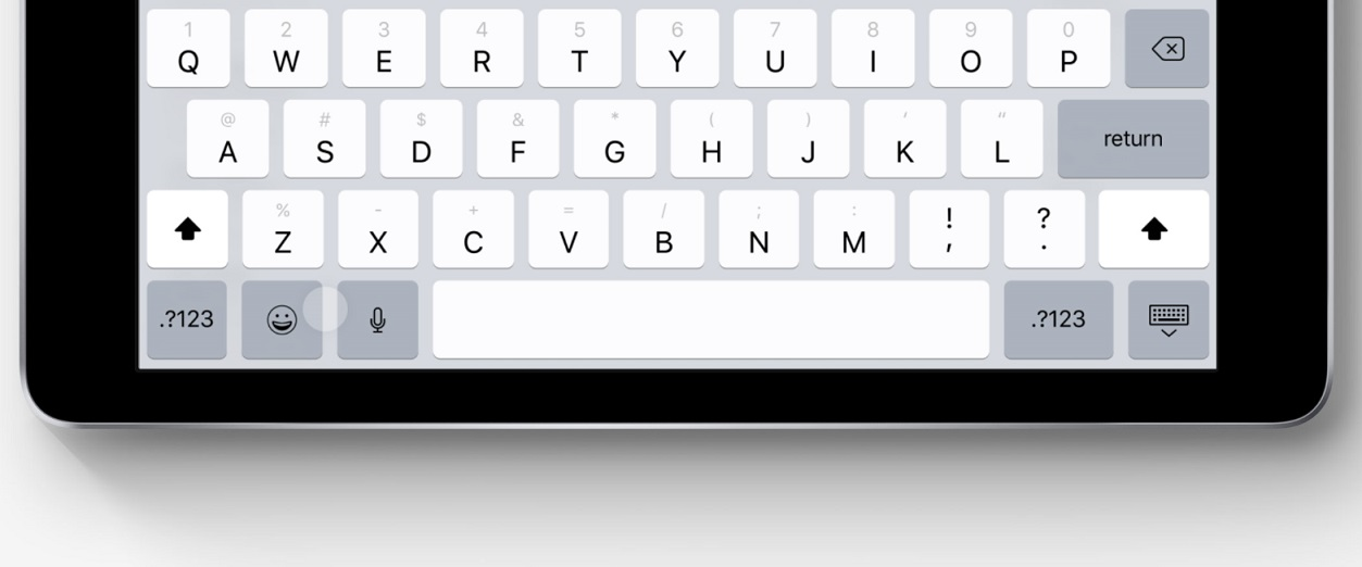 iOS 11 iPad QuickType