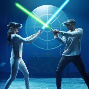 Jedi Challenges Lightsaber Versus Mode