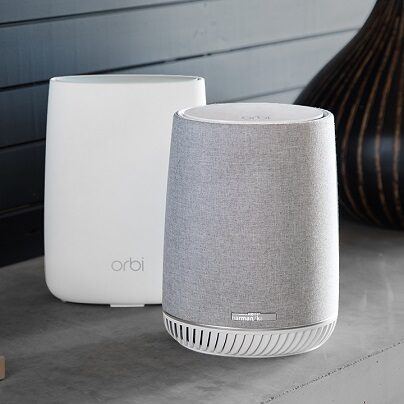 Orbi Voice Smart Speaker i WiFi Mesh Satellite