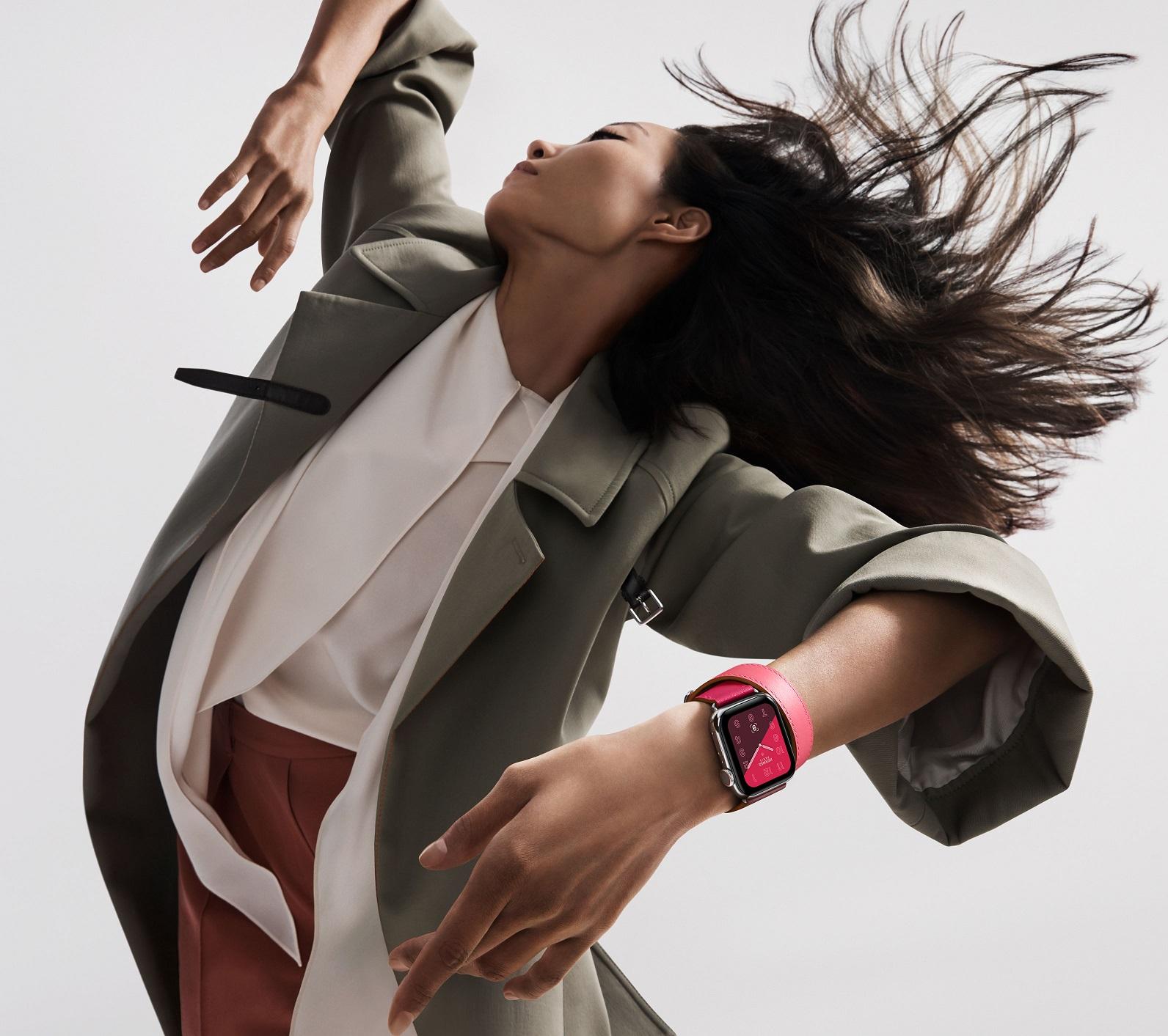 Apple Watch Hermès with Rose Extreme, Rose Azalee, Bordeaux Double Tour, 1399$