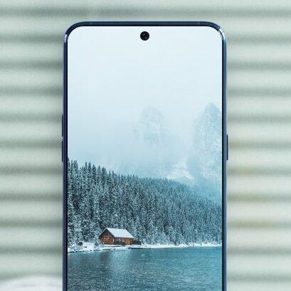 Kamerka w ekranie smartfona
