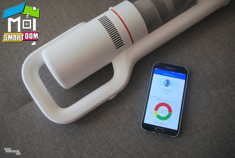 smart odkurzacz Roidmi F8 z aplikacji