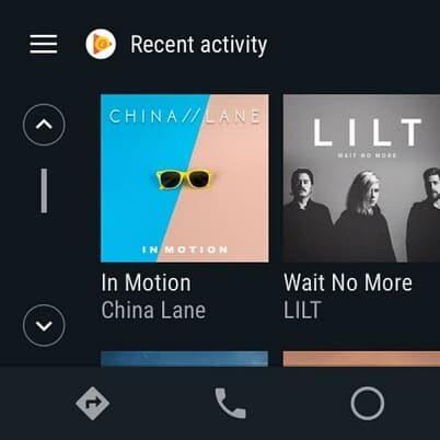 Android Auto albumy