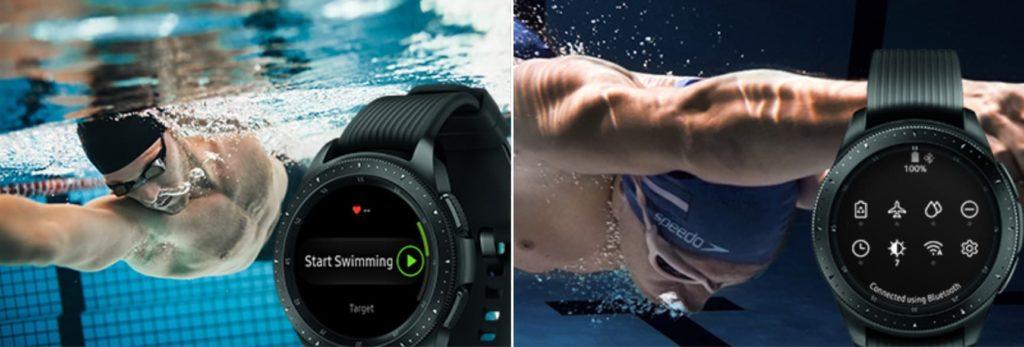 Galaxy Watch pływanie