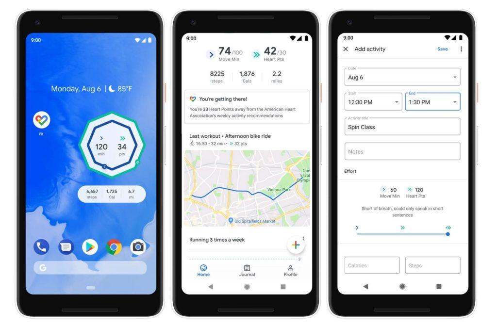 Google Fit widgety