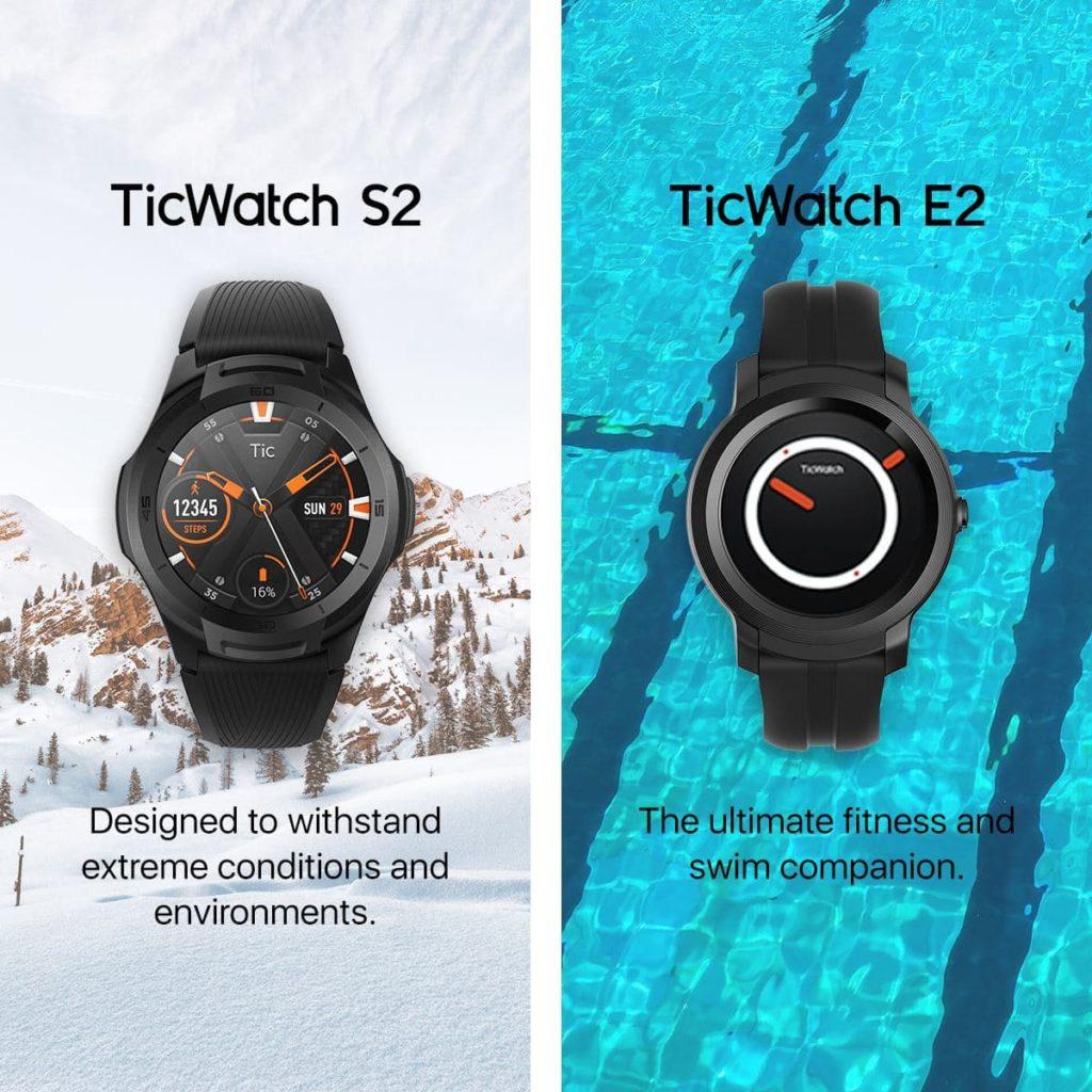 Mobvoi TicWatch S2 i E2 sportowe zegarki z Wear OS