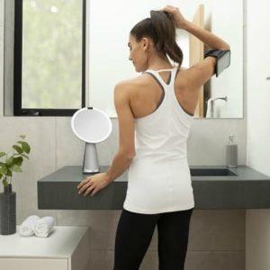 Simplehuman Sensor Mirror Hi-Fi Assist lustersko LED i smart głośnik