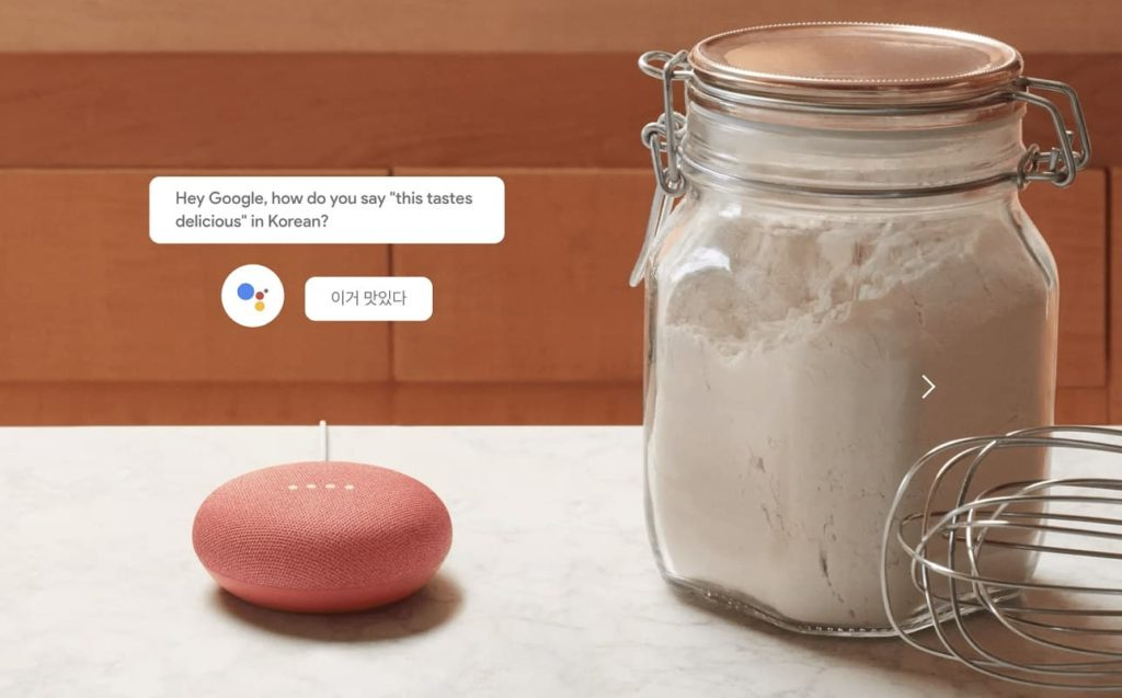 Asysten Google tłumacz Google Home