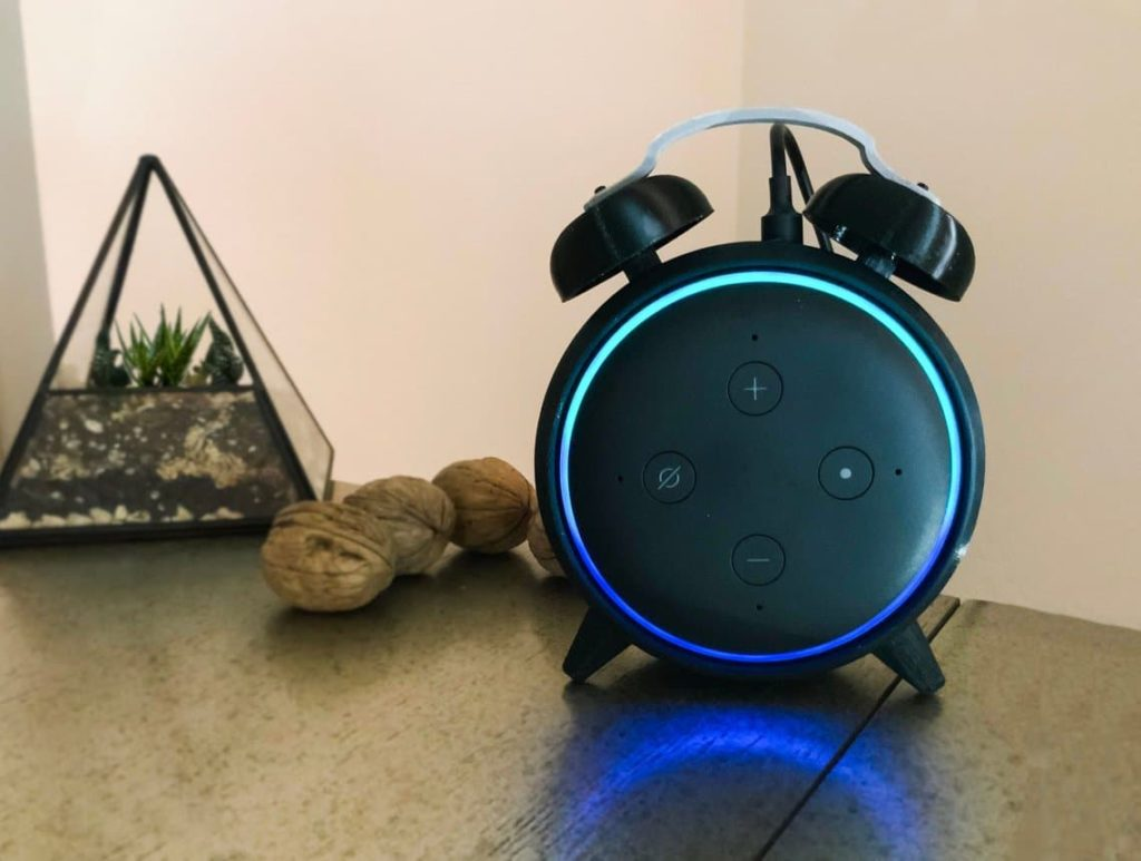 Echo Dot Alarm Clock Stand