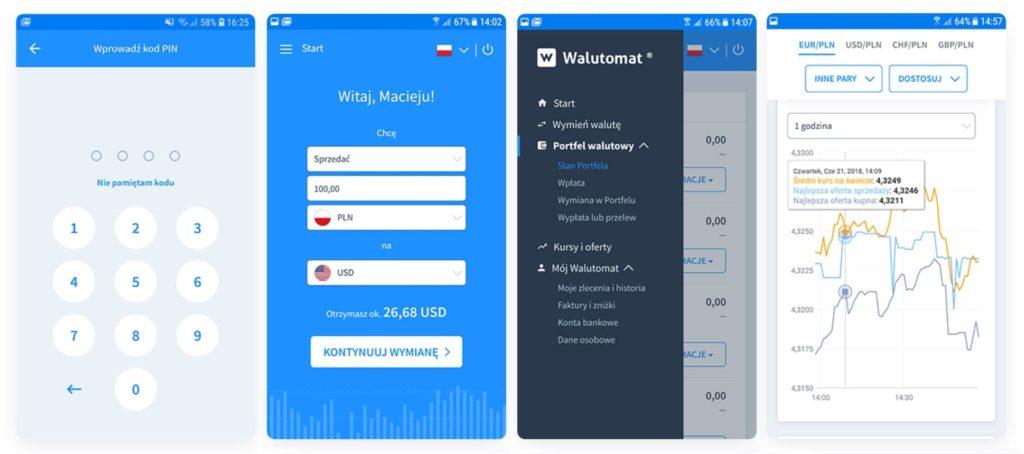 Aplikacja Walutomat