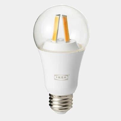 Ikea Ze Smart żarówką Tradfri Filament Tablicznipl