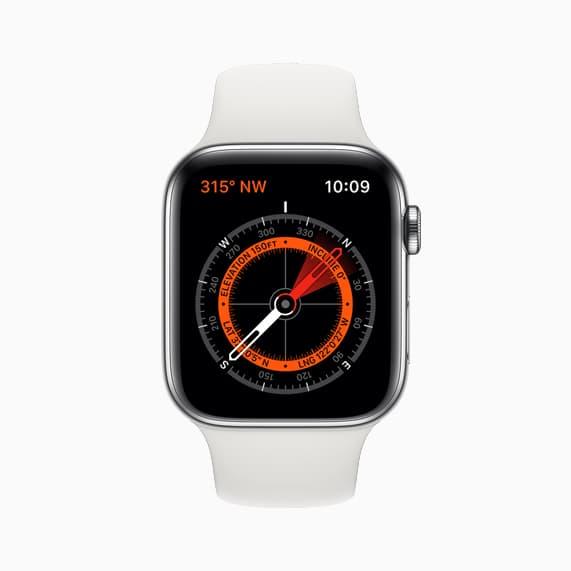 Apple Watch Series 5 compas