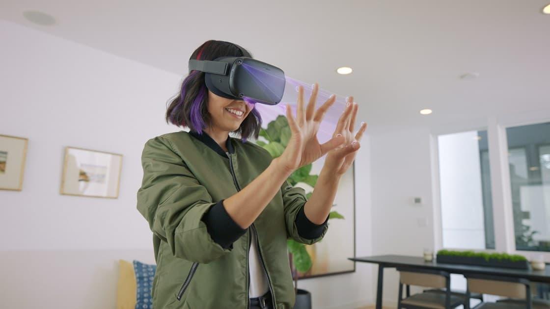 Oculus Quest z kontrolą rąk zamiast kontrolerów