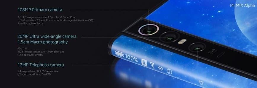 Xiaomi Mi Mix Alpha 108 megapikseli