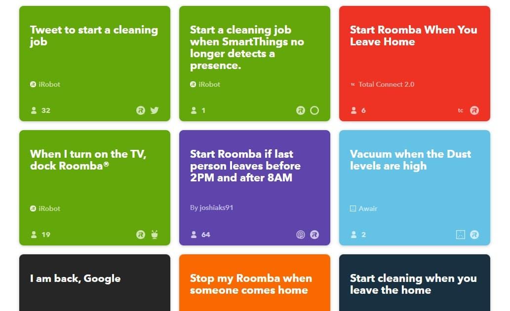 Roomba i7+ IFTTT