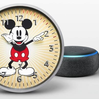 Amazon Echo Wall Clock Mickey Mouse Edition zegar z Alexą