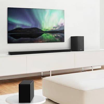 LGAI Room Calibration soundbar Hi-Res Audio